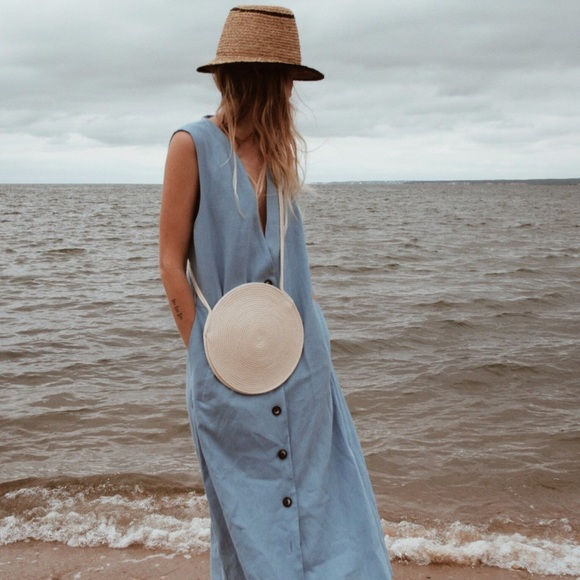 catzorange Handbags - Catzorange small circle woven cotton bag